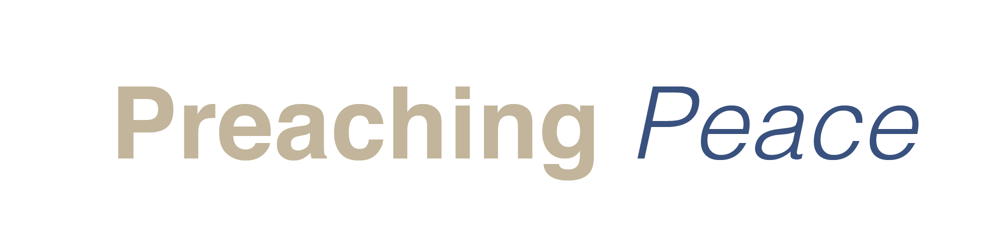 Preaching Peace Logo Text Only